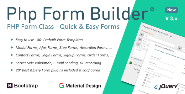PHP Form Builder Class - 20+ jQuery plugins included